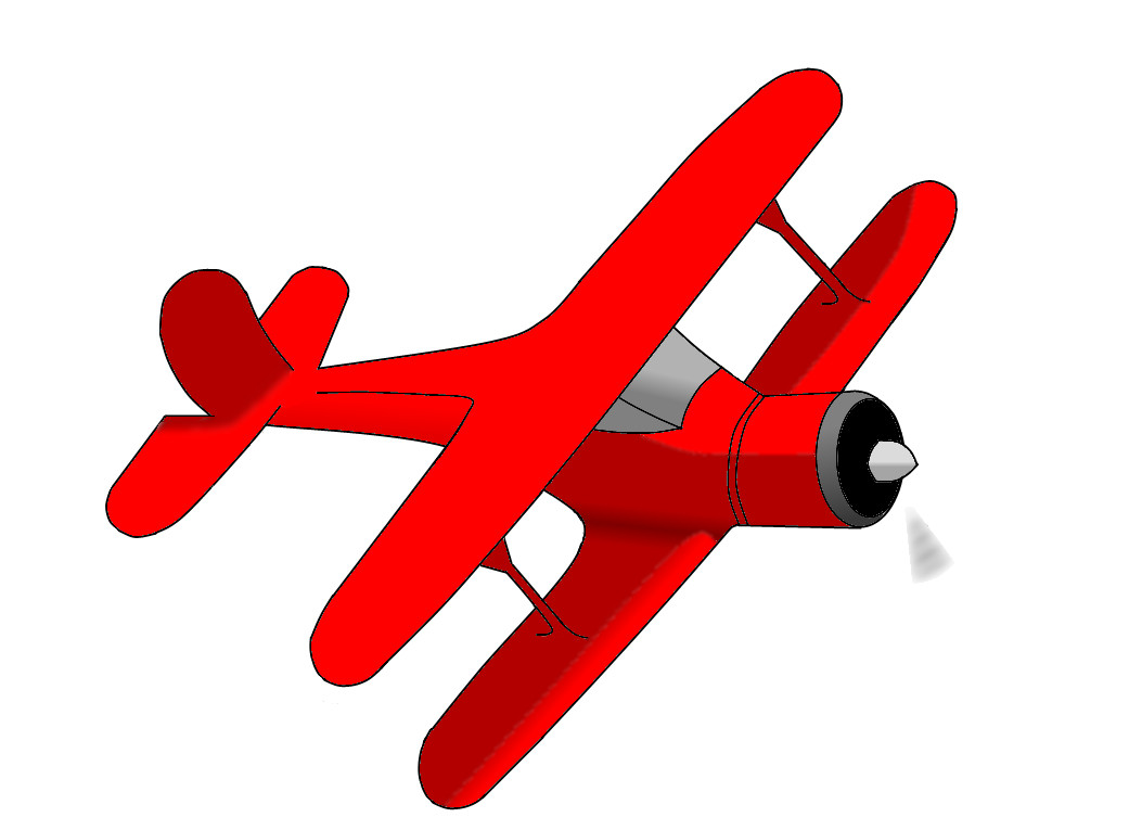 Pilot clipart red vintage airplane #13