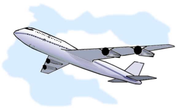 Vacation clipart flight CARTOON ClipArt AIRPLANE AIRPLANE Longarm