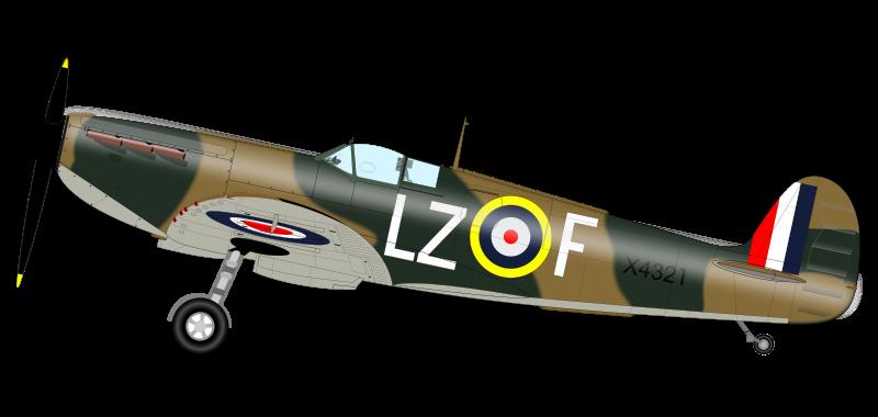 Aircraft clipart spitfire Art Supermarine Free Spitfire Free