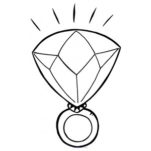 Diamond clipart coloring page Picture Diamond coloring page coloring