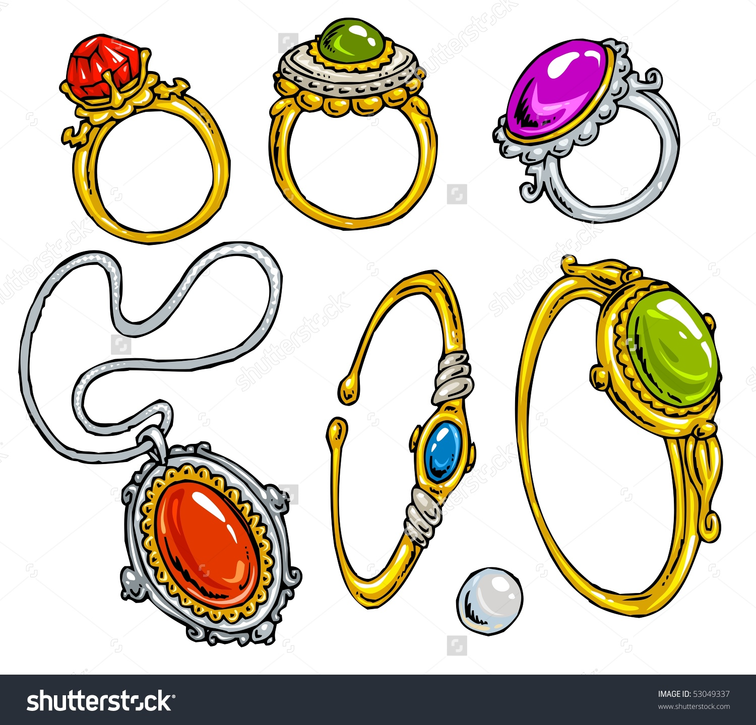 Necklace clipart cartoon Searched jewelry heart jewelry Golden