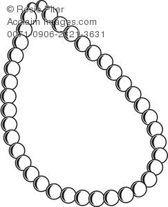 Necklace clipart outline Outline The Illustration Necklace A