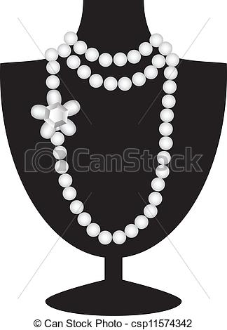 Necklace clipart jewelry display #4