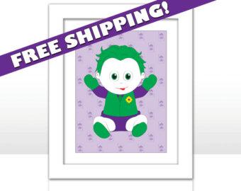 Joker clipart baby Joker SHIPPING FREE Etsy Print