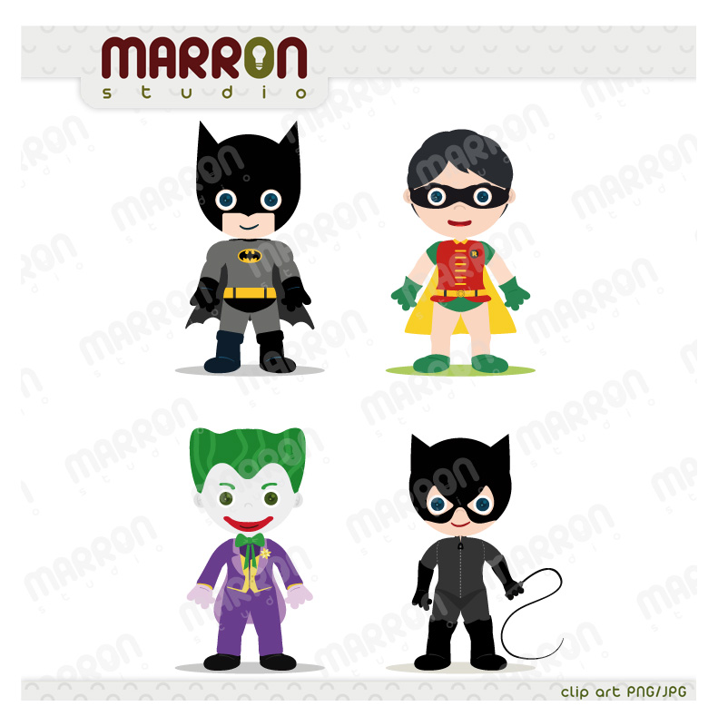 Joker clipart batman and robin Heroe Joker and art Batman