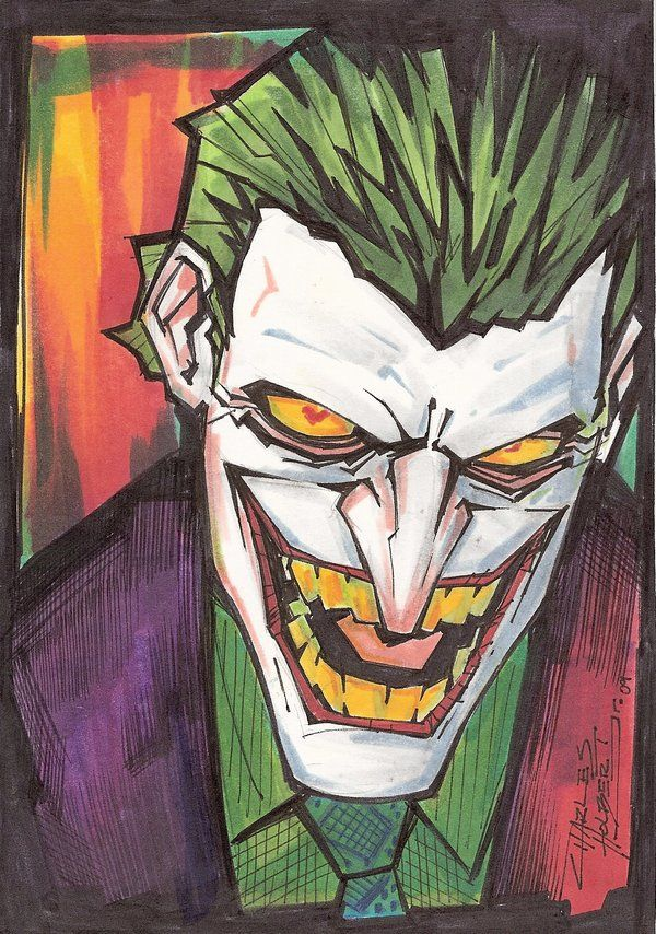 Joker clipart batman and robin Mr Art marker: Style My