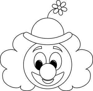 Joker clipart black and white White Panda top%20hat%20coloring%20page Clipart Clown
