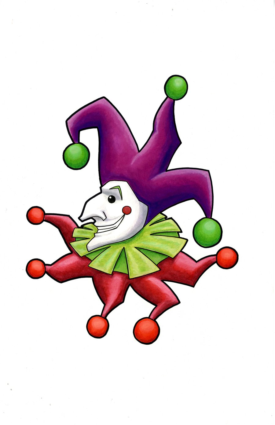 Joker clipart cartoon #6