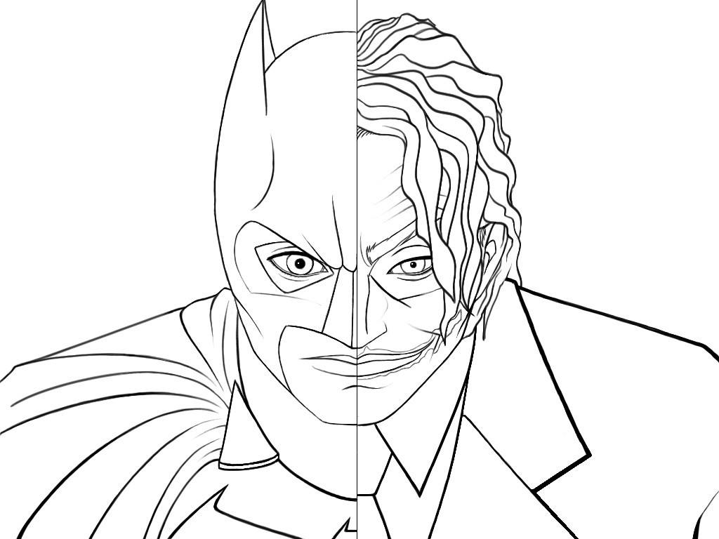 Joker clipart coloring page Joker For Download Free Coloring