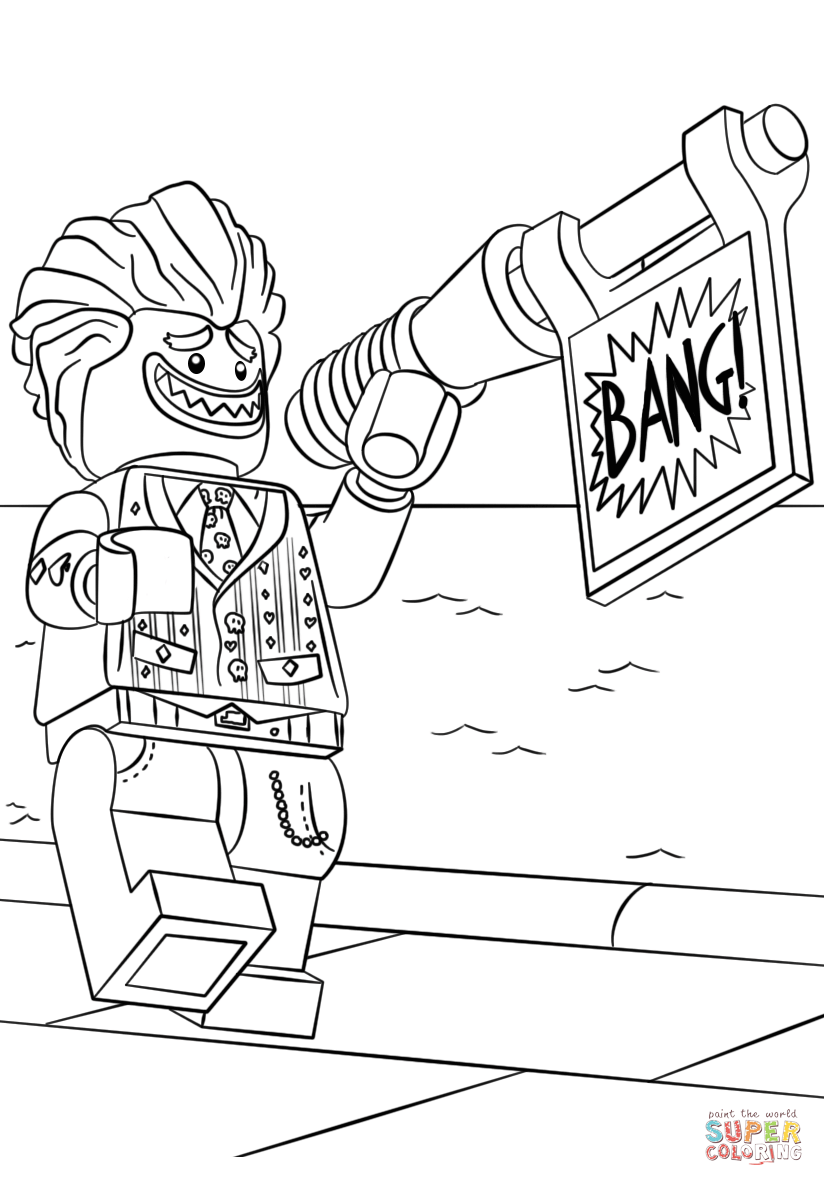 Joker clipart coloring page Joker Lego coloring Pages iPad