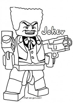 Joker clipart coloring page Batman pages  Printable joker