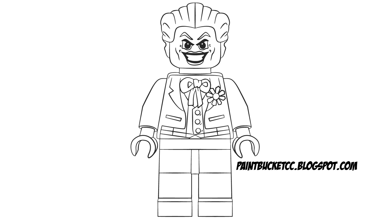 Joker clipart coloring page Clip Minifigure printable free and