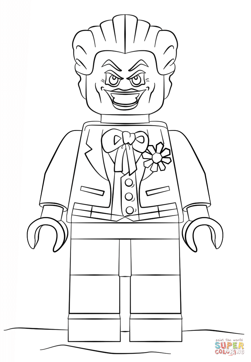 Joker clipart coloring page Page Lego pages and Lego