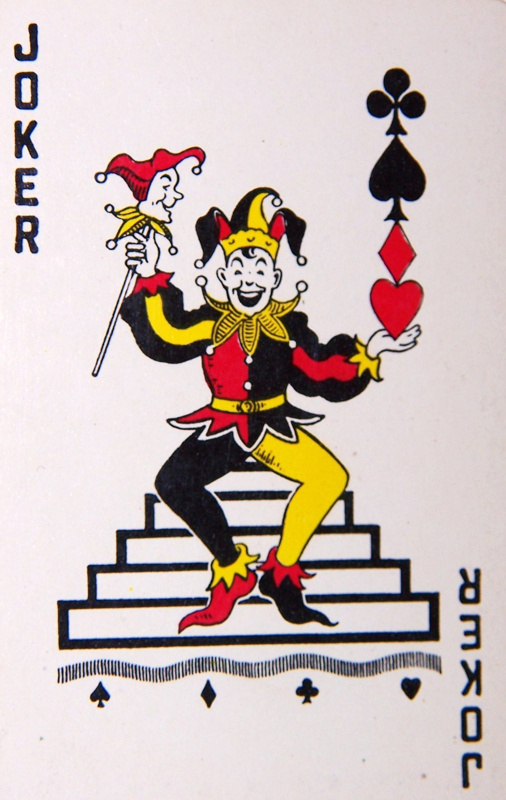 Joker clipart deck card  Vintage Card the Most