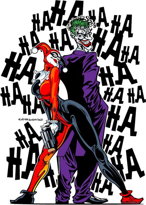 Joker clipart harlequin TheRetroInc and quinn Etsy Harley