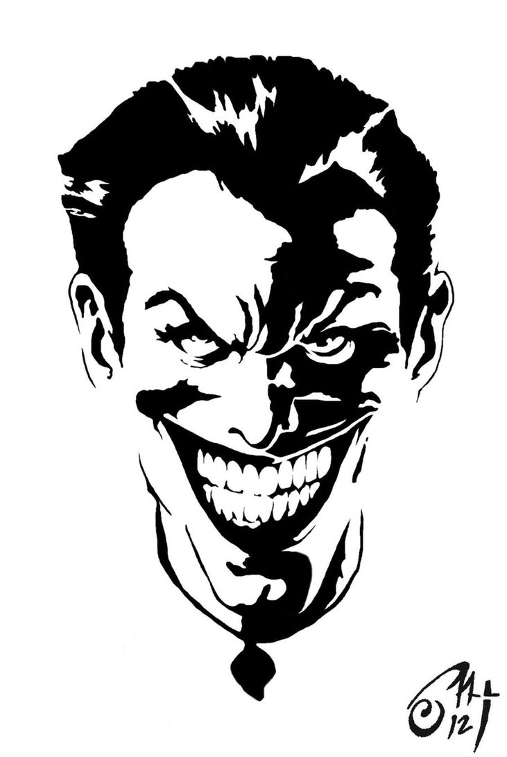 Joker clipart head  Buscar Snake JOKER Drawings