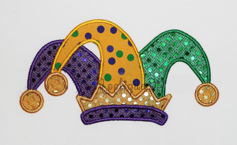 Joker clipart jester hat Hat Jester Embroidery Hat Machine