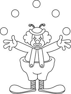 Joker clipart juggler Juggling image image coloring clown