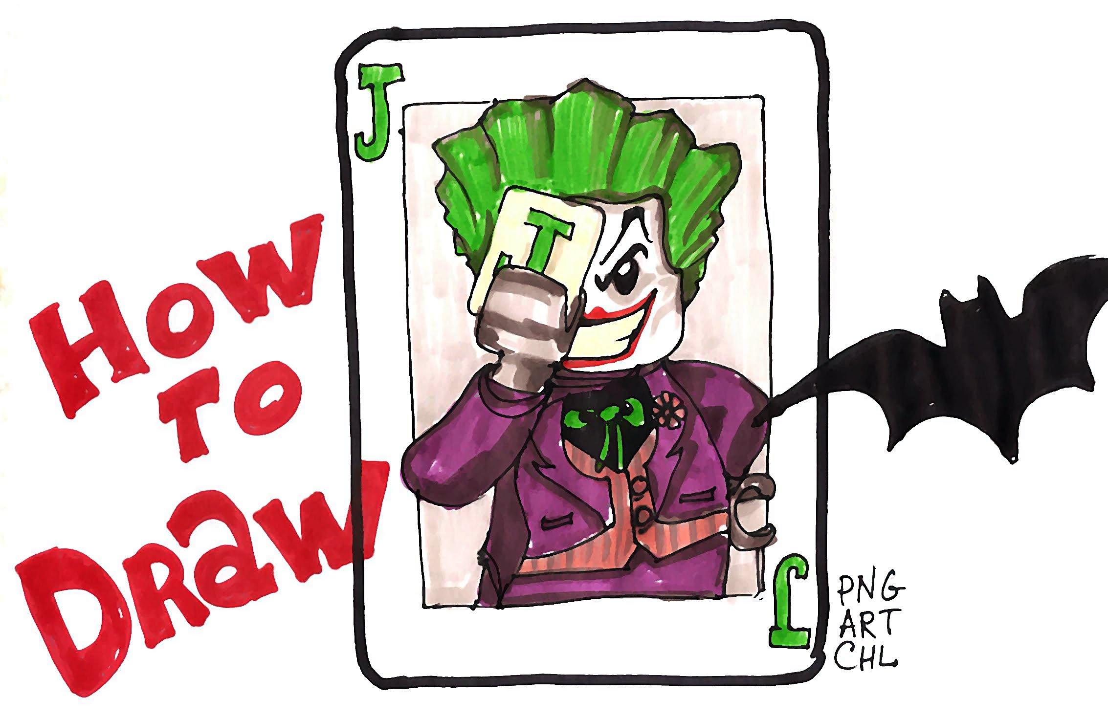 Joker clipart lego YouTube Joker LEGO How Draw