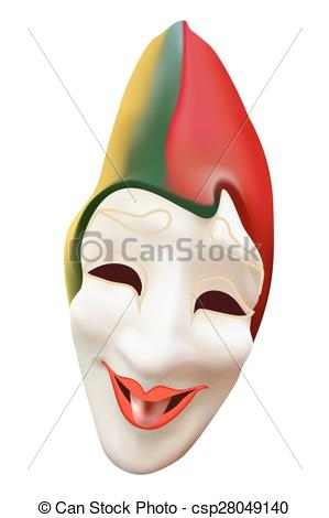 Joker clipart lip Isolated csp28049140 mask white EPS