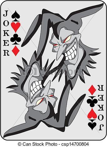 Card Vector Joker of background