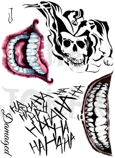 Joker clipart mouth Tattoos Pinteres… tattoos SharonHArtDesigns …
