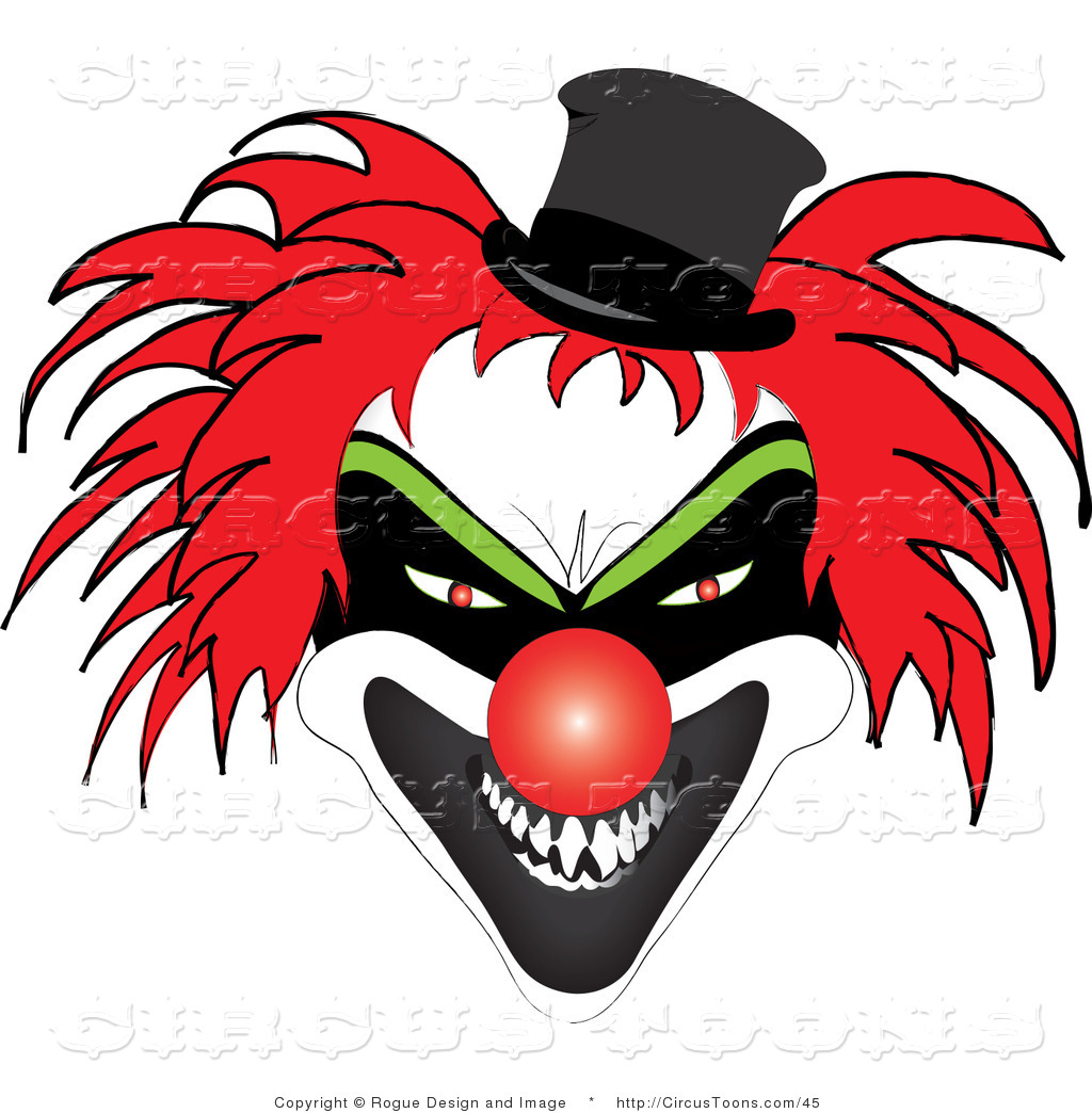 Joker clipart nose Red and Nose Evil Stock