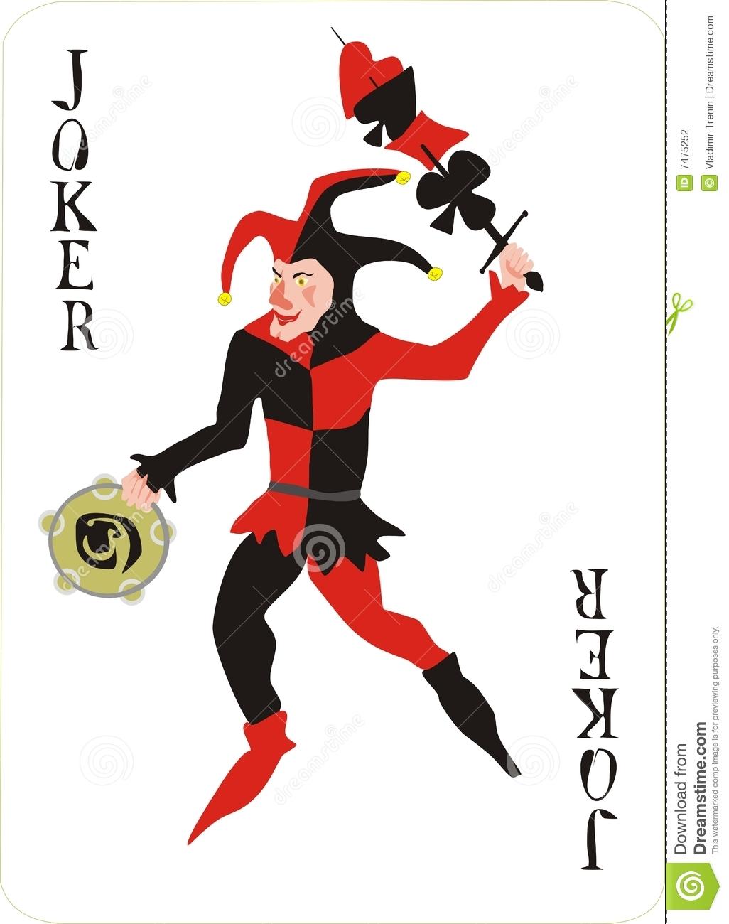 Joker clipart old cartoon Card card Clipart playing Joker