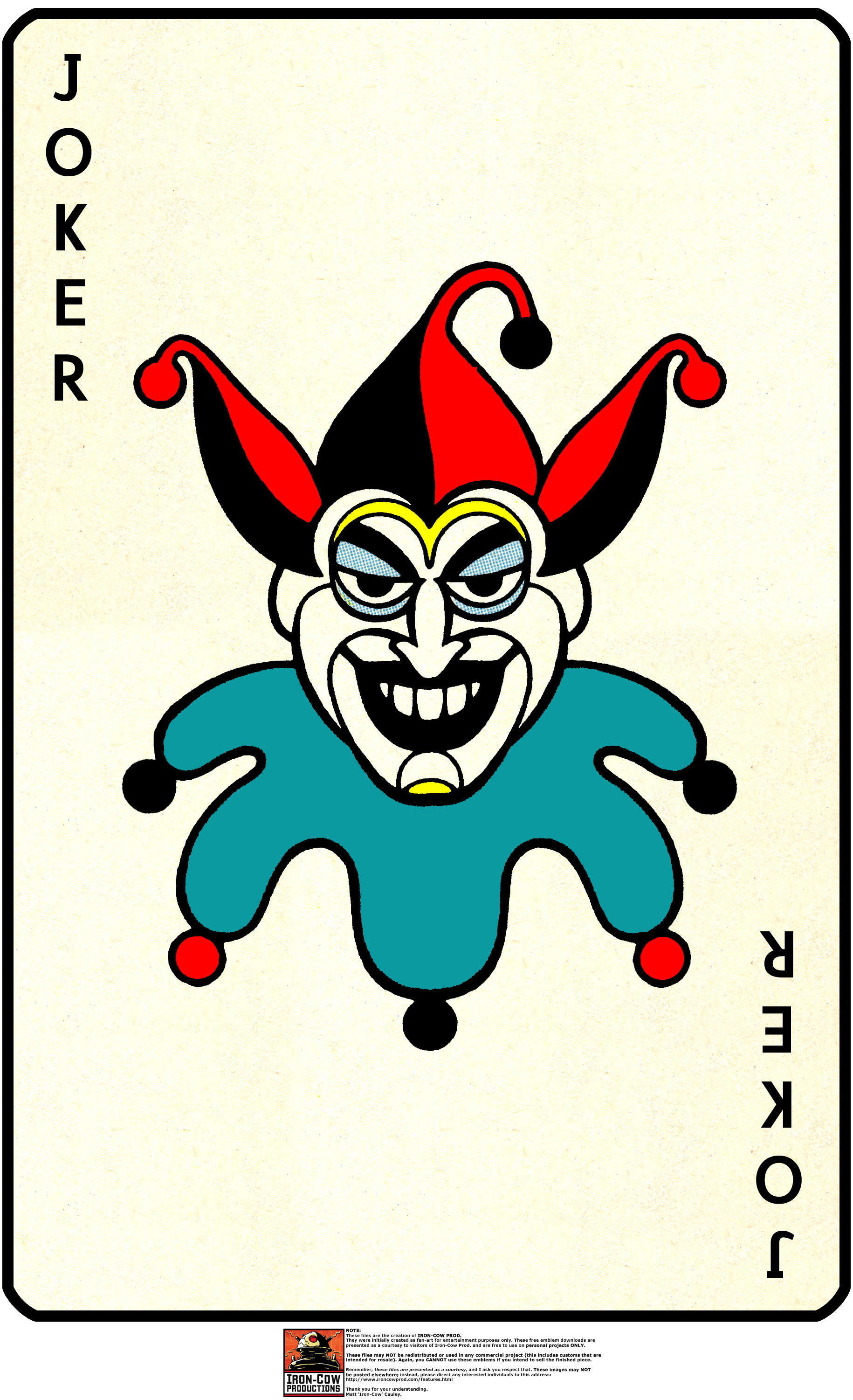 Joker clipart real #13
