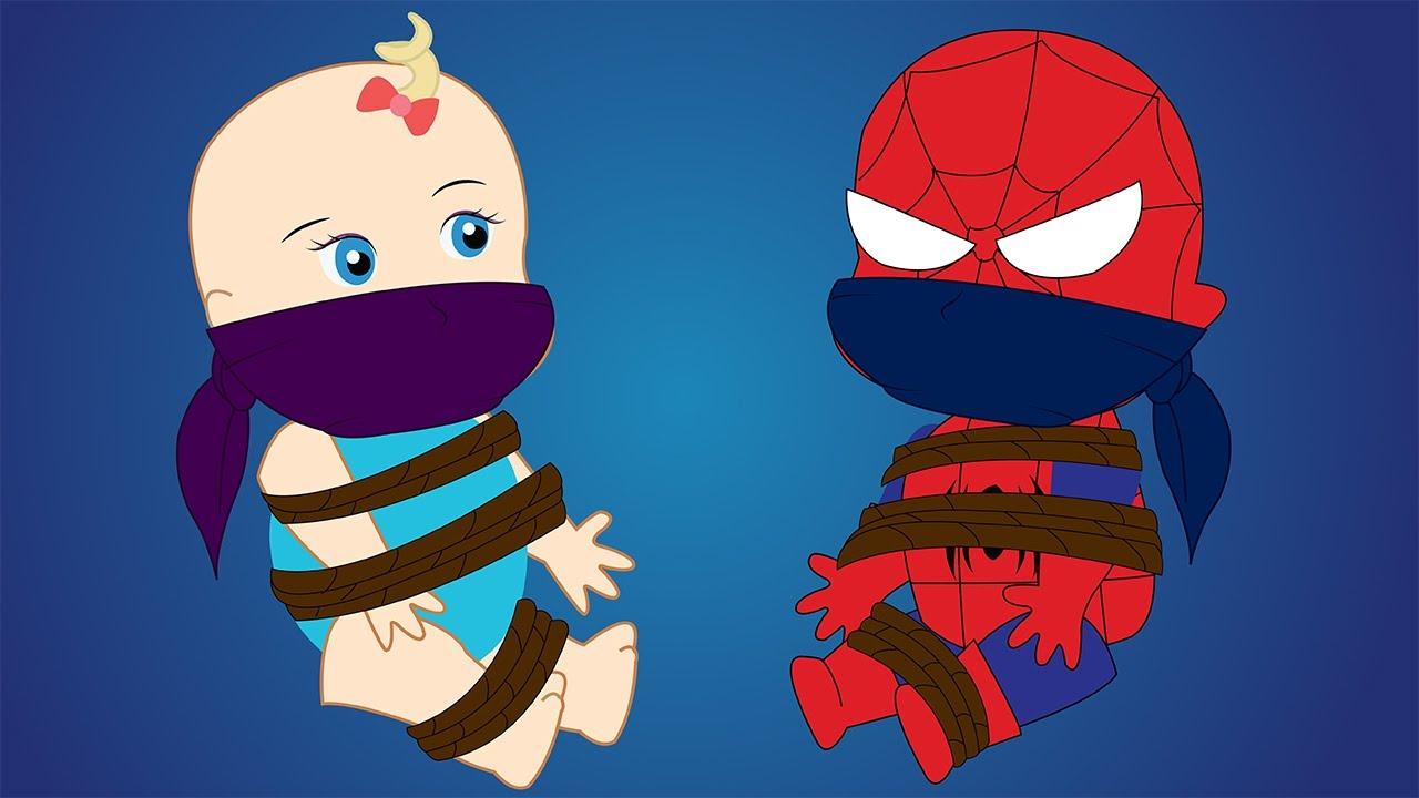 Joker clipart real Superheroes Life Episodes! Spiderman Babies