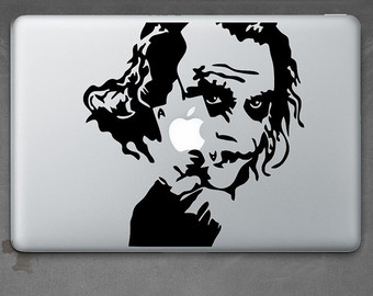 Joker clipart sticker Air Laptop Joker Knight Etsy
