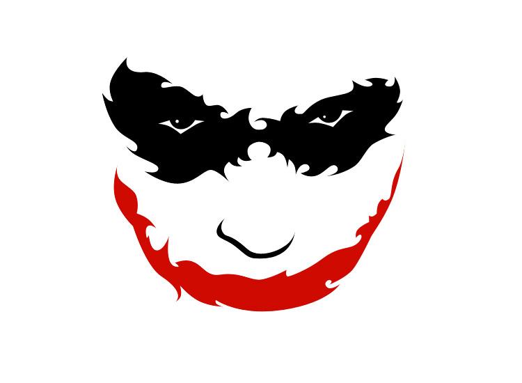 Joker clipart tribal #1