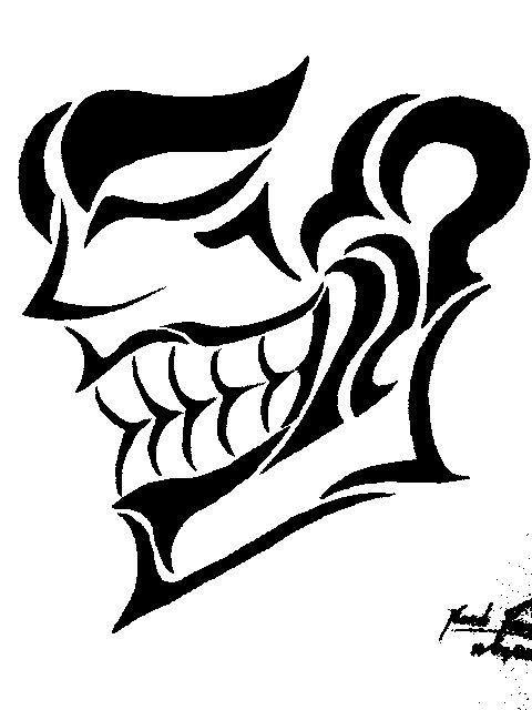 Joker clipart tribal #6