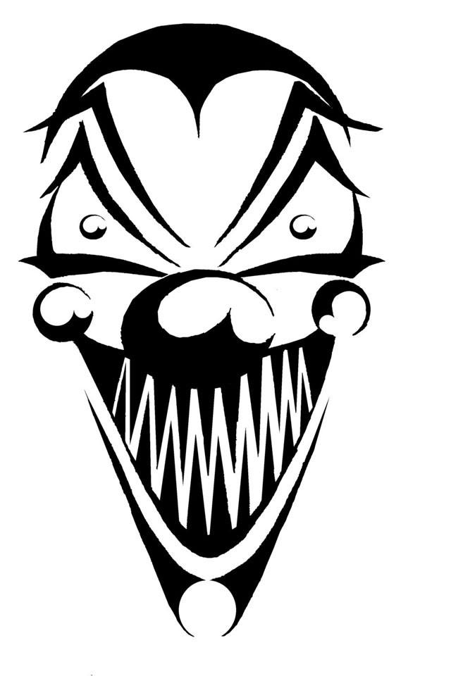 Joker clipart tribal #15