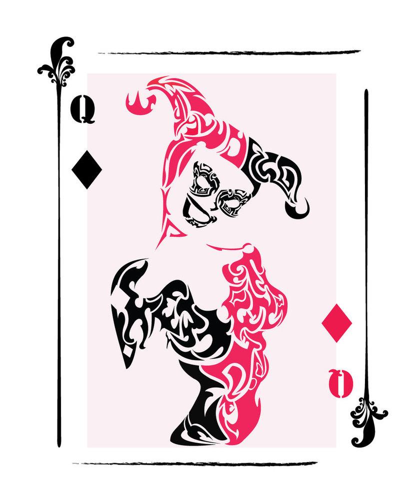 Joker clipart tribal Harley Card Quinn by on