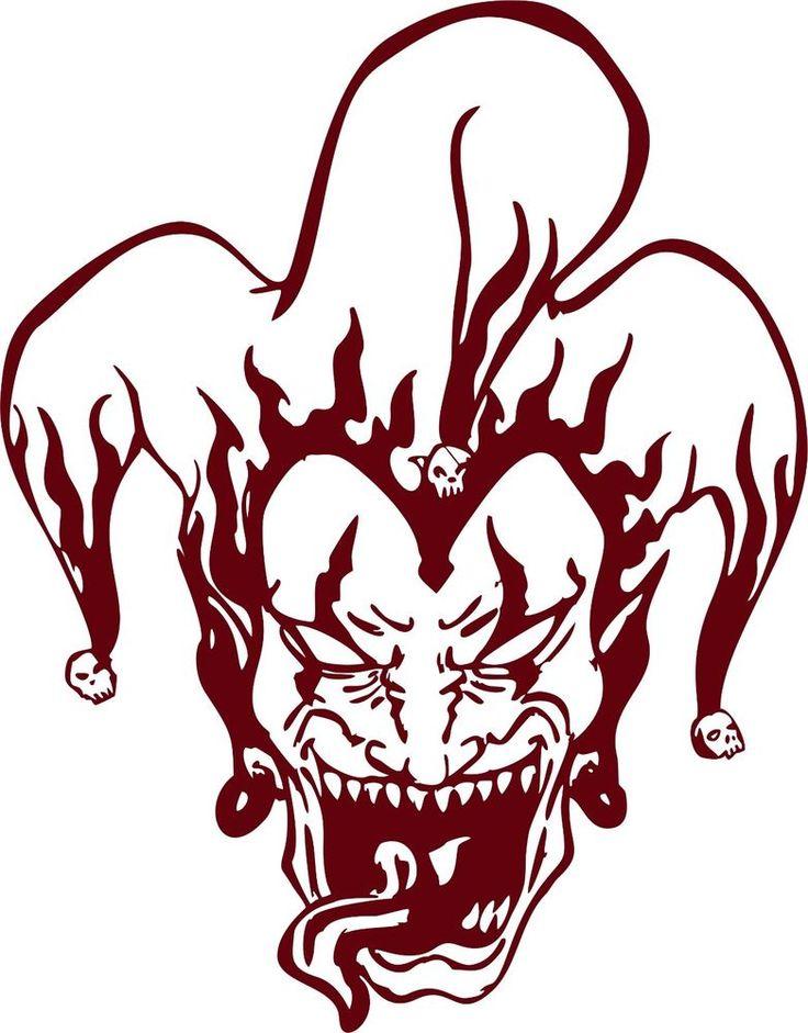 Joker clipart tribal #10