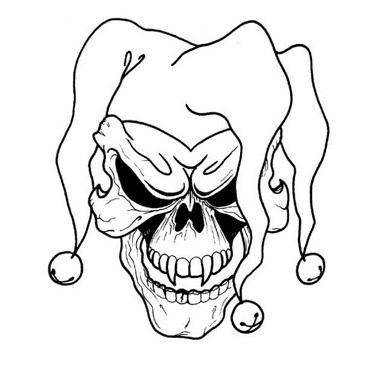 Joker clipart tribal #13
