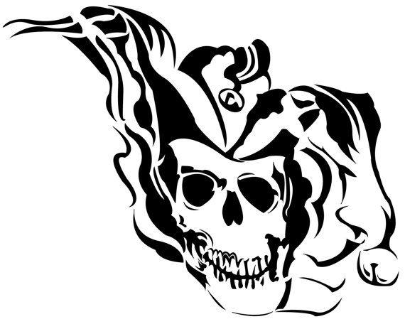 Joker clipart tribal #8