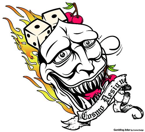 Joker clipart tribal #14