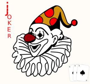 Joker clipart vector #2