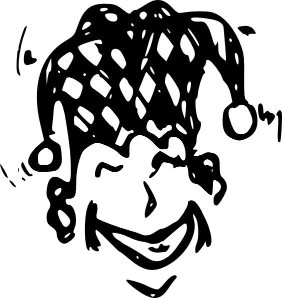 Joker clipart vector #1