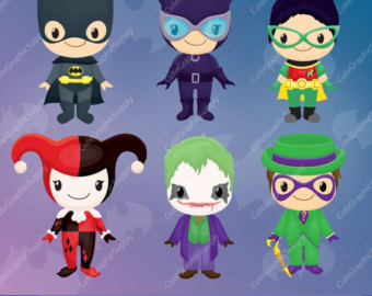 Joker clipart villain Clipart comic hero Superhero clipart