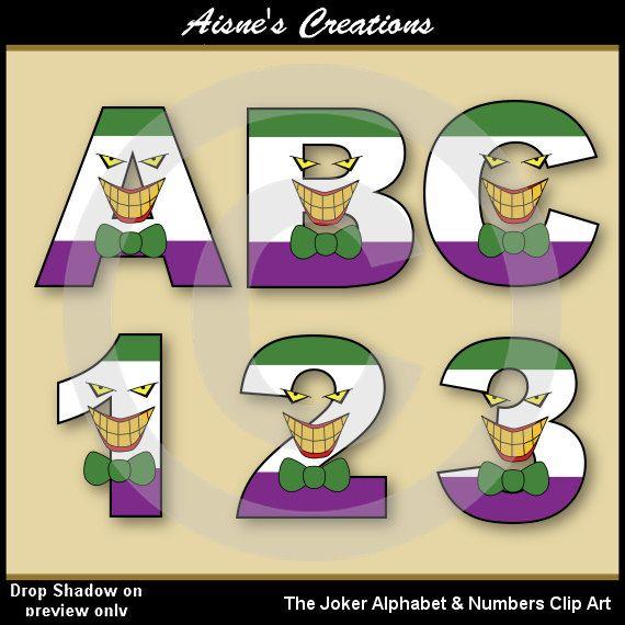Joker clipart villain Numbers & Art (Batman) images