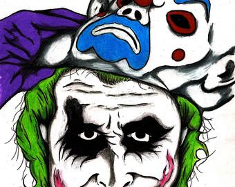 Joker clipart villian Etsy Joker Tattoo Dark NO