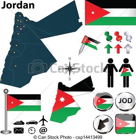 Jordania clipart Map Jordan of Jordan EPS