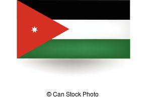 Jordania clipart  vector detailed Flag Art