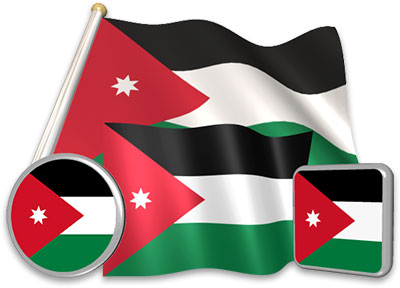 Jordania clipart animated Flag collection Pictures Flags Flag