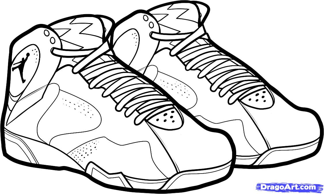 Drawn shoe jordan 7 Pages to Bordeaux ShoesJordan jordan