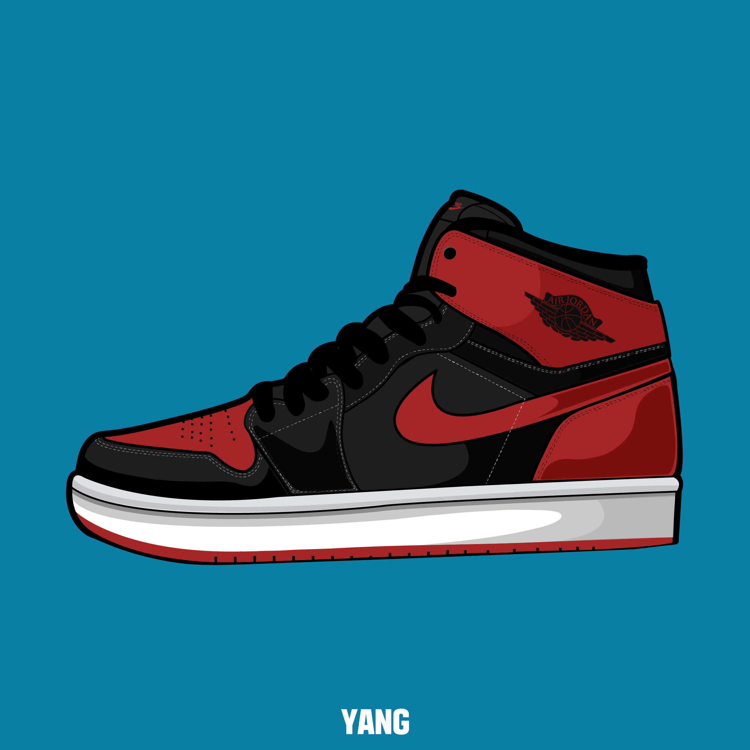 Drawn shoe jordan 1 Sneakers drawing jordan design