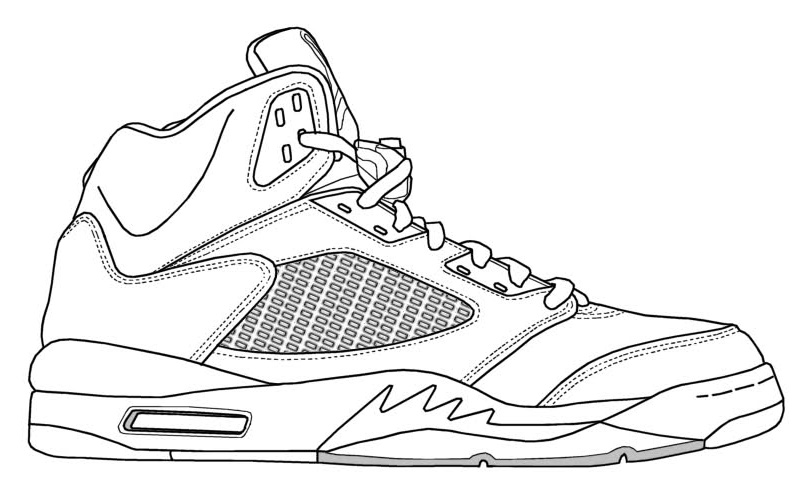 Drawn shoe jordan 5 #1
